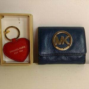 Micheal Kors wallet and charm